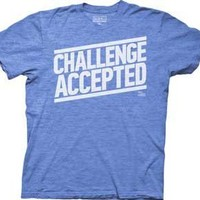 HOW I MET YOUR MOTHER -- CHALLENGE ACCEPTED -- MENS TEES