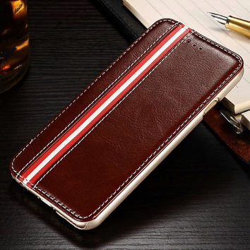 Style PU leather cover for iPhone 6 flip stand