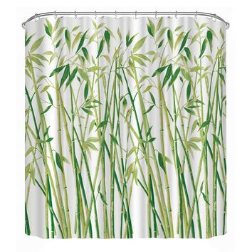Bathroom Products Shower Curtain Waterproof Polyester 3D Small Bamboo Printed Shower Curtain (180*180cm)