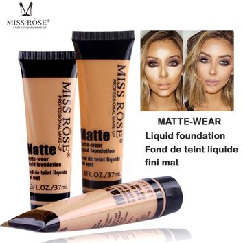 Professional maquiagem base Long Lasting Concealer Waterproof Whitening Miss Brand Face Base Liquid Foundation Makup