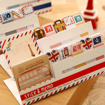 Cute Mini Memo Pad Sticky London post it Note Paper Scrapbooking Sticker Pads Creative Stationery Free shipping 243