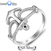 Genuine 925 Sterling Silver Anchor Ring