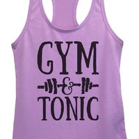Womens Gym And Tonic Grapahic Design Fitted Tank Top