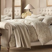 Chesterfield Fabric Sleigh Beds | Restoration Hardware