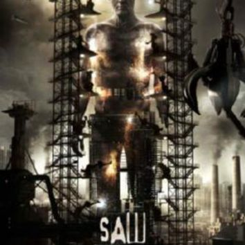 Saw 3D Movie poster Metal Sign Wall Art 8in x 12in