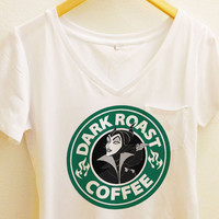 Maleficent Dark Roast Coffee Pocket Shirt | Sleeping Beauty  | Disney Villain