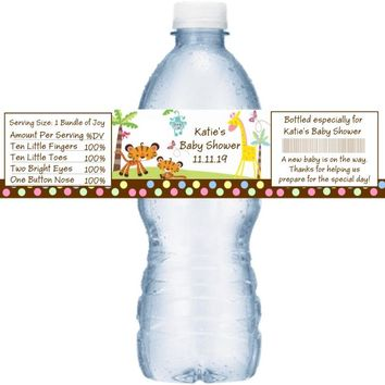 21 Fisher Price Baby Shower Water Bottle Labels