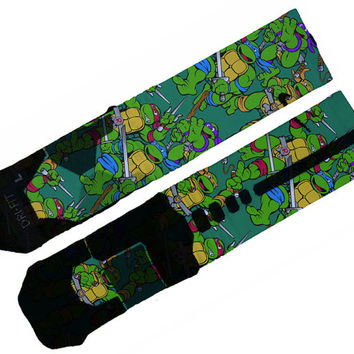 Teenage Ninja Turtles Custom Nike Elite Socks