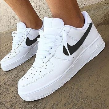 Nike Air Force 1 Classic New Fashion White Low Men And Women Leisure Shoes