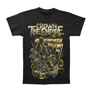 Crown The Empire Men's  Vikings T-shirt Black Rockabilia