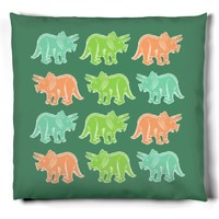 Colorful Triceratops Pattern
