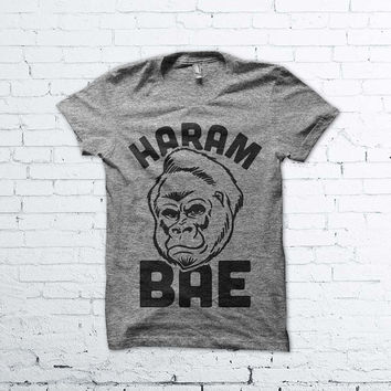 Haram Bae - Funny Harambe Shirt, Bae Shirt, Relationship Goals Shirt, Harambe Love Shirt, Funny Dating Shirt, Harambe Meme Shirt,