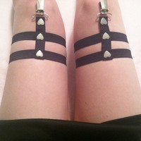 Heart Stud Sock Garters by FemmeFlowers on Etsy