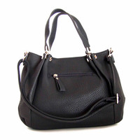 Reserved for Johanne - Handmade Vegan Leather Bag Purse Black -  the Ifor - new fall winter collection