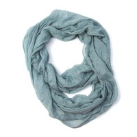 Gauze Infinity Scarf with Open Weave Pattern | Icing