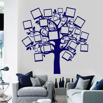 Wall Vinyl Decal Family Tree Pictures Branches Guaranteed Quality Decor Unique Gift z3906