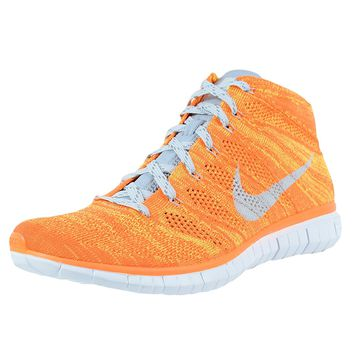 Nike Free Flyknit Chukka Total Orange Grey Volt Running Shoe