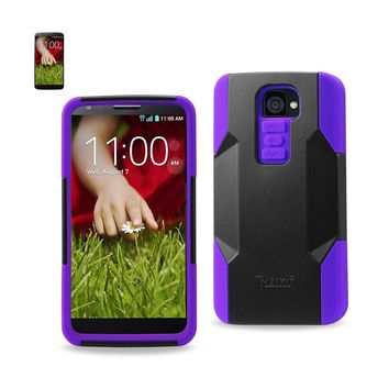 LG G2 Hybrid Heavy Duty Case In Purple Black`