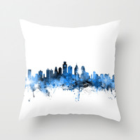 Philadelphia Pennsylvania Skyline Throw Pillow by ArtPause