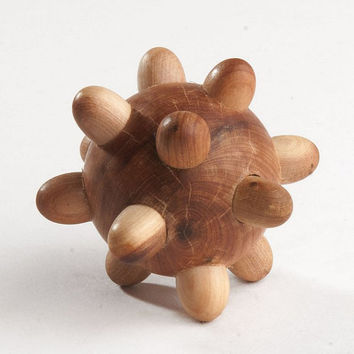 Wooden Tactile Toy - Organic Sensory Toy - Wooden Hedgehog - Toys for toddlers - Montessori Toy - Eco Friendly Handmade Wooden Toys for Kids