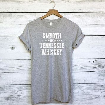 ac NOVQ2A Smooth as Tennessee Whiskey T-Shirt