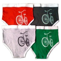 Single Pair Sexy Men's Bike Underwear grey green by alittlelark