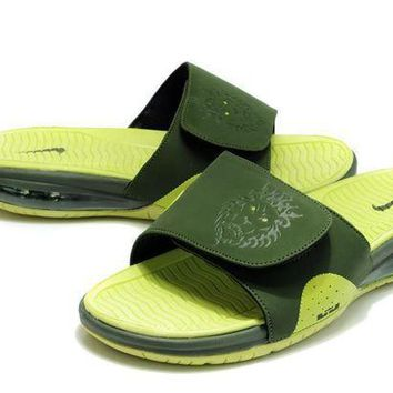 PEAPGE2 Beauty Ticks Nike Air Lebron Slide Green/grass Green Casual Sandals Slipper Shoes Size Us 7-11