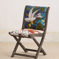 Overdyed Terai Folding Chair by Anthropologie