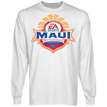 Maui Invitational 2014 Logo Long Sleeve T-Shirt - White