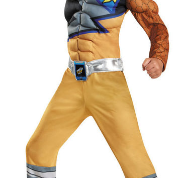 Power Rangers Dino Charge: Gold Ranger Muscle Child Costume - Large (10-12)