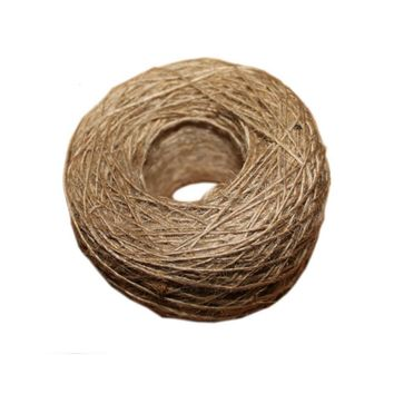 1 Roll 100M Natural Burlap Hessian Jute Twine Wedding Decoration Jute Twine Rope Gift Packing String Halloween Party Decoration