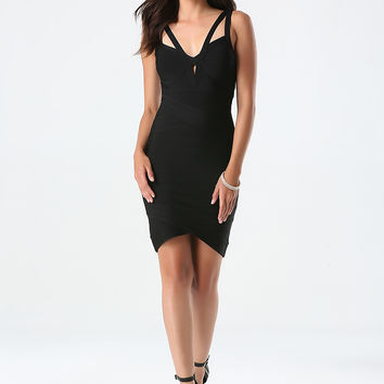 bebe Womens Fallon Bandage Dress