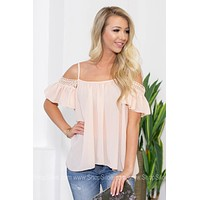Flutter Lace Cold Shoulder Top