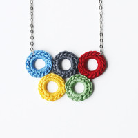 Colorful Olympic Circle Necklace on Luulla