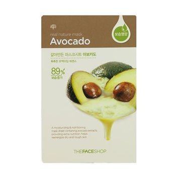 THE FACE SHOP REAL NATURE MASK SHEET, AVOCADO