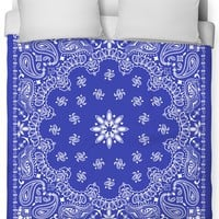 Blue Bandana Duvet Cover