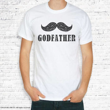 Godfather T-shirt-godfather tee-godfather tank top-quote tee-gift for godfather-baptism t-shirt-men tees-Christening tee-by NATURA PICTA