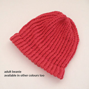 wool beanie, wool hats, knit beanie hats, hand knitted womens beanie, loom knitted beanie, toques, mens beanie, red beanies, winter hats