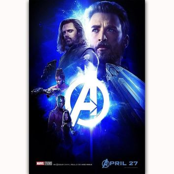 MQ3524 Avengers Infinity War 2018 Movie Character Captain America and Bucky Barns Art Poster Silk Canvas Home Decor Wall Print