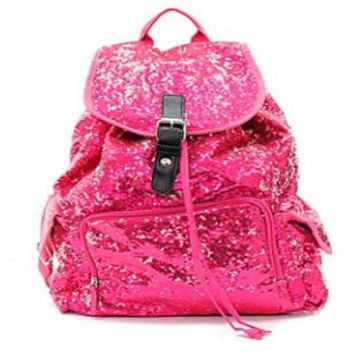 BLING Hot Pink Sequin Backpack FREE Personalziation Dance Bag Cheer Bag Book Bag Overnight School Bag Swim Sports Birthday Flower Girl Youth