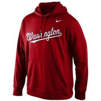Washington Nationals Nike MLB Red Ultra Pullover Hoodie
