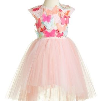 Girl's Halabaloo 'Butterfly' High/Low Tulle Dress