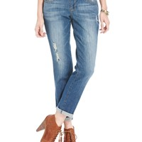 Jolt Juniors Jeans, Straight Leg Destroyed Boyfriend - Juniors Jeans - Macy's