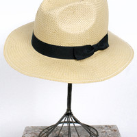 Simple Straw Fedora, Tan