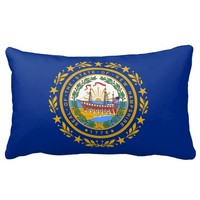 New Hampshire flag, American state flag Pillow