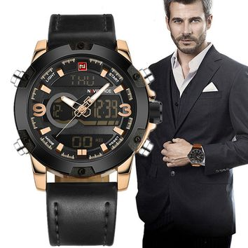 Luxury Brand Men Gold & Black  Watchpiece