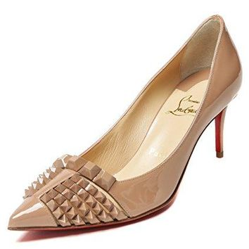 Wiberlux Christian Louboutin Women's Stud Detailed Pointed Toe Real Leather Stilettos