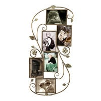 Decorative Bronze Color Iron Wall Hanging Collage Picture Photo Frame