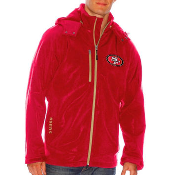 San Francisco 49ers Lateral Soft Shell Jacket – Scarlet
