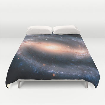 Duvet Cover, Galaxy Bedding Cover, Outer Space Bedroom Decor, Home Decor, Barred Spiral Galaxy, King, Queen, Full